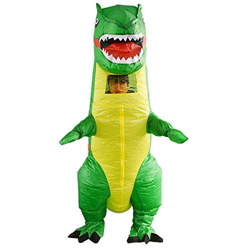 costyle Aufblasbares Dinosaurier Kostüm Grün Cosplay Verrücktes Kleid für Halloween Party