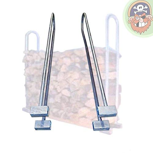 *2 Stück Rohrbügel für Stapelhilfe, Holzlager für Kaminholz Brennholz von Gartenpirat®*