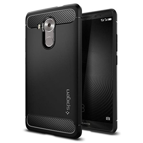 Galleria fotografica Spigen Coque Mate 8, [Rugged Armor] Resilient [Black] Ultimate protection and rugged design with matte finish Coque Pour Huawei Mate 8 (2015) - Black(SGP11849)