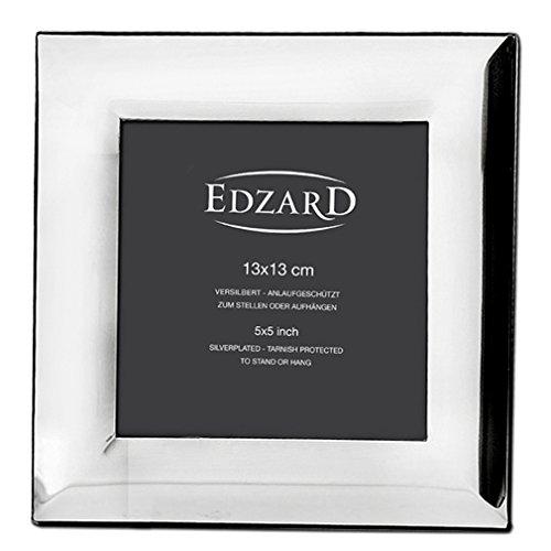 EDZARD Fotorahmen Gela für Foto 13 x 13 cm, edel versilbert, anlaufgeschützt