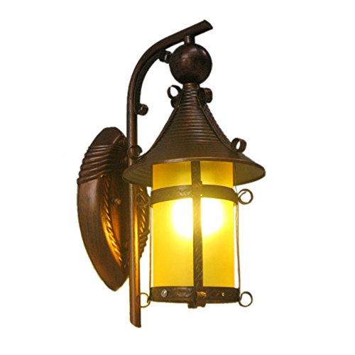 GKJ Lampe murale rétro, Balcon, couloir, couloir, escalier, lampe murale, bar, café, tête simple, suspendue, fer à repasser, lampe murale, tête unique E27, 33 * 14cm (taille : 33 * 14cm)