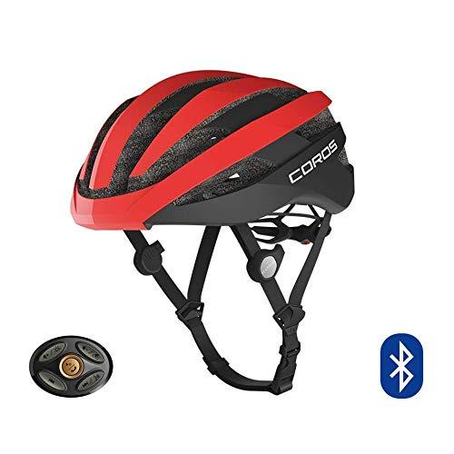 COROS SafeSound - Sistema audio per casco da ciclismo con sistema di apertura per le orecchie, telefonate con musica Bluetooth, telecomando intelligente, leggero, rosso opaco, taglia M (55-59CM)