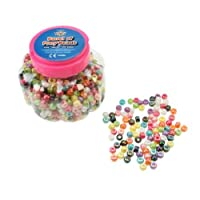 Creation Station 250 g Barrel of Pony Beads ,  Assorted Colours Approximately 1000