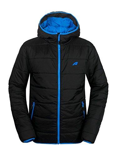 aparso Herren Steppjacke Übergangsjacke (XL, Schwarz/Blau)