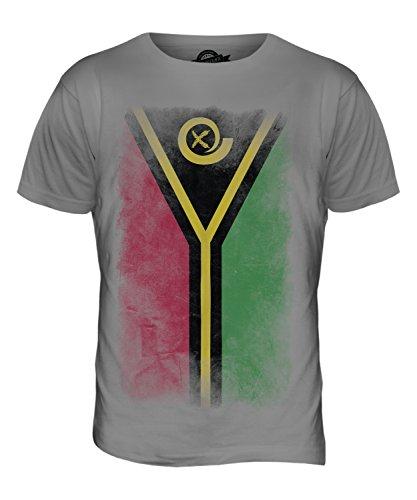 CandyMix Vanuatu Verblichen Flagge Herren T Shirt Hellgrau