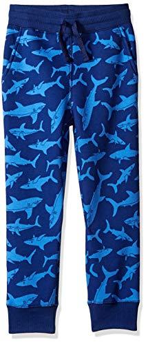 Amazon Essentials Fleece Jogger Sweatpants, Blue Shark, 4T 4t Fleece
