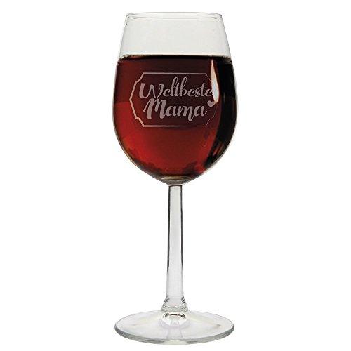 """Preisvergleich Produktbild Weinglas """"Weltbeste Mama"""",  Rot- / Weißweinglas,  Geschenkidee,  Muttertagsgeschenk,  Geschenk zum Muttertag,  Geburtstag,  zu Weihnachten,  für Mama,  die Mutter"""