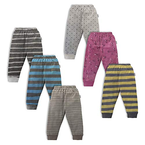 NammaBaby Cotton Pants for Infants (Multicolor,12-18 months) - Set of 6