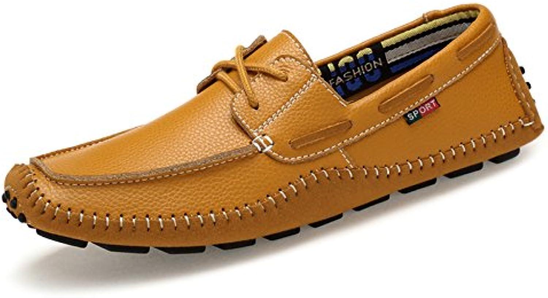 MERRYHE Leder Schnür Bootsschuhe Für Herren Slip on Mokassins Schuhe Deck Schuh Mode Loafer