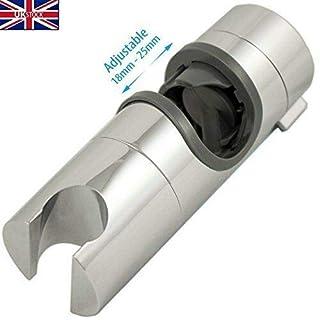 22mm Chrome Shower Head Holder Slider Bracket To Fit 22mm Riser Rail