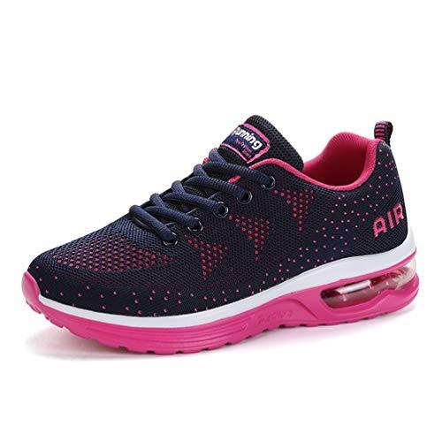 Flarut Unisex Uomo Scarpe da Ginnastica Corsa Sportive Fitness Donna Running Sneakers Basse Interior Air Casual all'Aperto(Rosa,39)