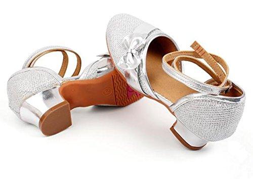 Kinder / Erwachsene Latein-Tanz-Trainingsschuhe Latein-Tanz-Performances zeigen Schuhe silvery