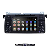 ‏‪hizpo in Dash Car Stereo Radio Android 9.0 Car Stereo 7 Inch Touch Screen Applicable to BMW 3 Series BMW E46 BMW M3 1998 1999 2000 2001 2002 2003 2004 2005 + Backup Camera‬‏