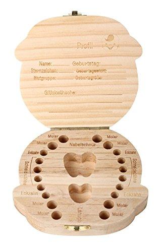 ELENKER [Deutsche Version]Aufbewahrungsbox für Kinder Baby Zähne Milchzähne Box Geschenk für Kinder (Jungen)