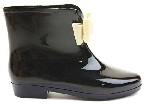 Mr Shoes ,  Damen Gummistiefel Schwarz