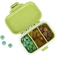 Preisvergleich für Sunbobo Kleine Pill Box Ergänzung Fall für Pocket oder Geldbörse - 3 Herausnehmbare Fächer Travel Medication Tragetasche...