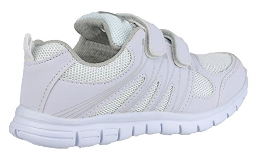 Mirak Filles Milos Velcro Léger Sport formateurs Blanc Blanc - blanc