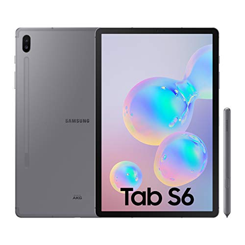 "Samsung Galaxy Tab S6 Tablette 10,5"", 256 Go, S Pen inclus, écran sAMOLED, Wifi, Gris (Version Espagnole)"