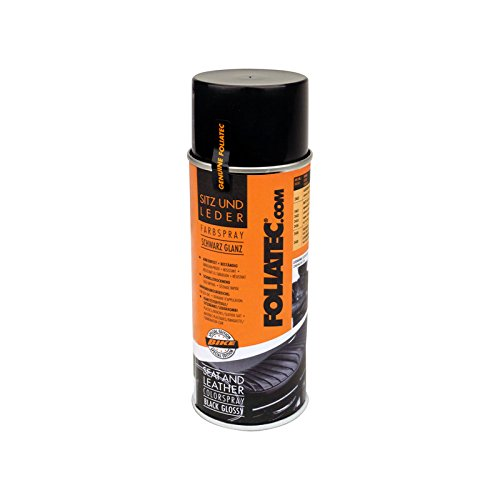 Foliatec F2403 Seat und Leather Color Spray, 1 x 400 ml, Glänzend, Schwarz