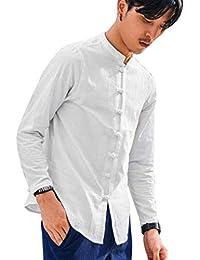 FAMILIZO Camisas Originales Baratas Hombre Camisas Manga Hombre Lino  Camisas Blusa Hombre Larga Slim Tops Fit rwzrSPZq a806f08444a