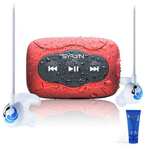 Swimbuds Sport Kopfhörer mit SYRYN wasserdichter MP3 spieler
