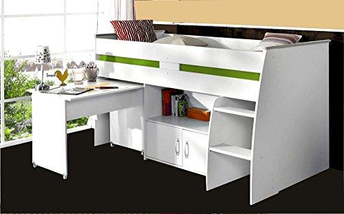 Parisot 2270Comb Set Möbel Kinderzimmer–Reverse Comb Weiß Megeve Holz Test