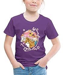 Bibi Und Tina Wettreiten Im Wald Kinder Premium T-Shirt, 122/128 (6 Jahre), Lila