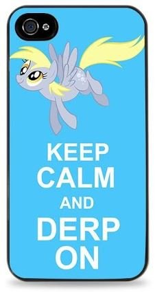 keep-calm-and-derp-on-my-little-pony-iphone-i6-hard-case-for-iphone-6-47-black-447