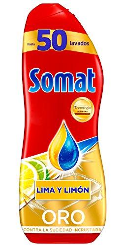 Somat Oro Gel Lavavajillas Limón - 50 Lavados 900
