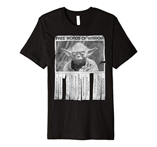 Star Wars Yoda Poster Words Of Wisdom Graphic T-Shirt -