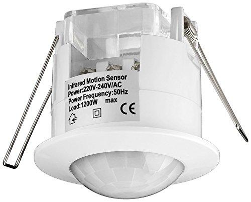 Garten & Terrasse Außenstrahler & Flutlichter Motiviert Ip65 Weatherproof Ceiling Or Wall Mounted Pir 180 Degree Motion Sensor...
