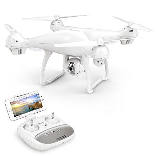 Potensic Drone avec GPS Drone avec 1080P HD caméra à Angle réglable en Temps réel FPV et T35 Avion en Fonction Suivez-Moi, Maintien de l'altitude, GPS Retour à la Maison Cadeau de la fête