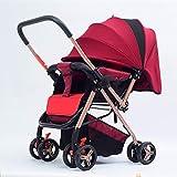 Articoli per bambini Carrozzina Passeggino, Pieghevole sedile ribaltabile Reclinabile Bici per neonati Carrello per neonati, B Beni per bambini