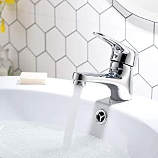 Aimadi Bathroom Sink Mixer Tap Single Lever Mixer Tap Bathroom Chrome