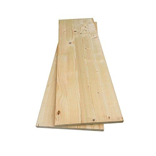 Stabile , saubere Leimholzplatte aus Fichten-Holz, 80 x 20 x 1,8cm | Wunschzuschnitt nach Ihren Maßen gerne | Ideal als Regalbretter, Regalböden, Möbelbauplatte und basteln
