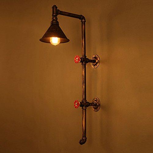 &Wohnzimmer Flur Schlafzimmer Wandleuchte Eisen-Wasser-Rohr-Wandlampe Weinlese-Gang beleuchtet Loft-Eisen-Wand-Lampe Edisonglühende Glühlampe &Kabellose Wandleuchte -