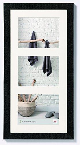 walther design HO338B Home Holzrahmen, 3X 13x18 cm, schwarz