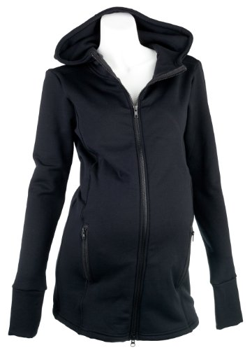 Mountain Mama Damen lassen Hooded Schwangerschafts Jacket schwarz