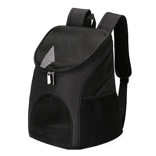 TASGK Haustier-Rucksack, Haustier-im Freienrucksack, Hundereise-doppelter Schulter-Rucksack, Ineinander greifen-Fenster und Falte, Qualitäts-Nylongewebe,Black