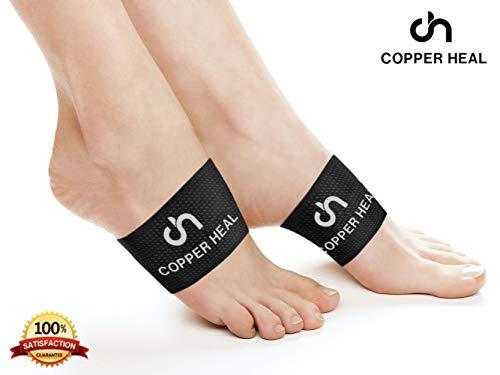 Arch-Unterstützung 2 Einheiten von COPPER HEAL Bogen Kupfer Compression Support Brace beste Fuß Plantar Fasciitis Sleeves hilft Relief Fersensporen flache Füße Achilles Schuhe Dr. Night Splint -