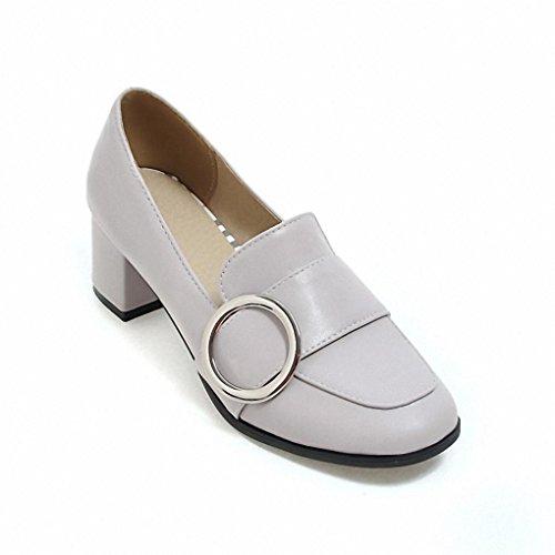Institute sommer Wind Schuhe Kopf In Mit Wild 2017 Of Loafer Dem Grey Britischen Quadratischem weibliche Frühlings TS15wqH
