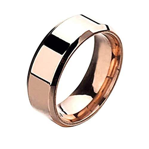 Haughtily Fashion Einfache Unisex Liebhaber Edelstahl Spiegel Finger Schmuck Geschenke Ringe