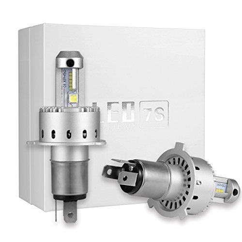 Preisvergleich Produktbild LED-Kit H4 HB2 Glühbirnen Scheinwerfer Umbausatz Dual Beam High Abblendlicht All-in-One CREE XHP50 Chip Plug-N-Play High Power 80W Ultra Bright 16000LM 6500K Xenon Weiß / SET von KOOMTOOM - 1 Jahr Garantie