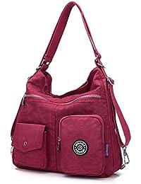 Outreo Mujer Bolsos de Moda Impermeable Mochilas Bolsas de Viaje Bolso  Bandolera Sport Messenger Bag Bolsos Baratos Mano para Tablet Escolares… f0742df80fd