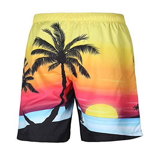 Gusspower Bañador/Pantalones Cortos para Hombre de Playa Hawaianos, Piscina y Parque Acuático,...