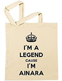 I'm A Legend Cause I'm Ainara Bolsa De Compras Playa De Algodón Reutilizable Shopping Bag Beach