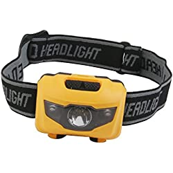 Generic Camping Hiking Mini 3 LED White Red Light Headlight Headlamp Head Torch Lamp