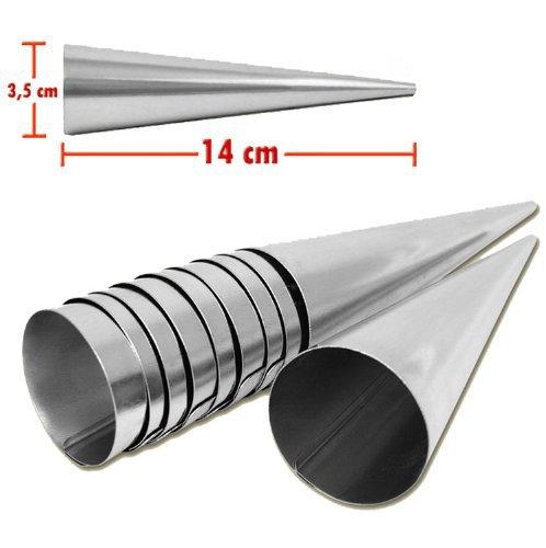 Set de 20 moldes con forma de cono width=