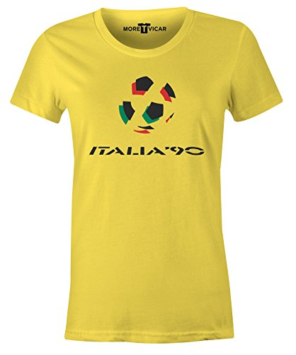 More T Vicar Damen T-Shirt, Slogan Gelb