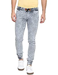 Urbano Fashion Men's Light Grey Slim Fit Jogger Jeans Stretchable